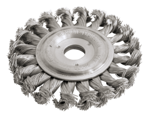 72 H KNOTTED WIRE WHEEL BRUSHES WITH ARBOR