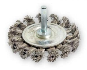 Knotted Steel Wire Wheel Brushes on 1/4 Shaft die grinders||