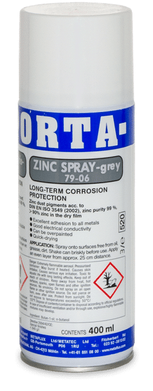 79-06 Porta Zinc Spray Metaflux Cold Galvanisation anticorrosion coating