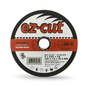 EZ-CUT 6'' cut-off discs