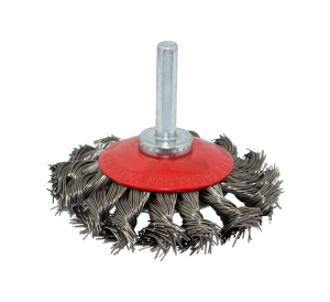 KNOTTED WIRE STEEL BEVEL BRUSH