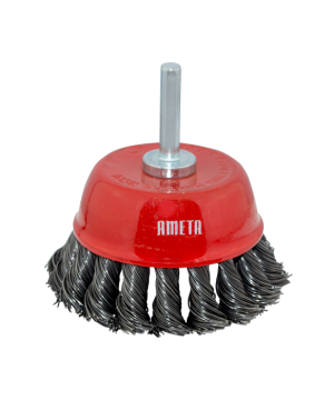 KNOTTED WIRE STEEL CUP BRUSH