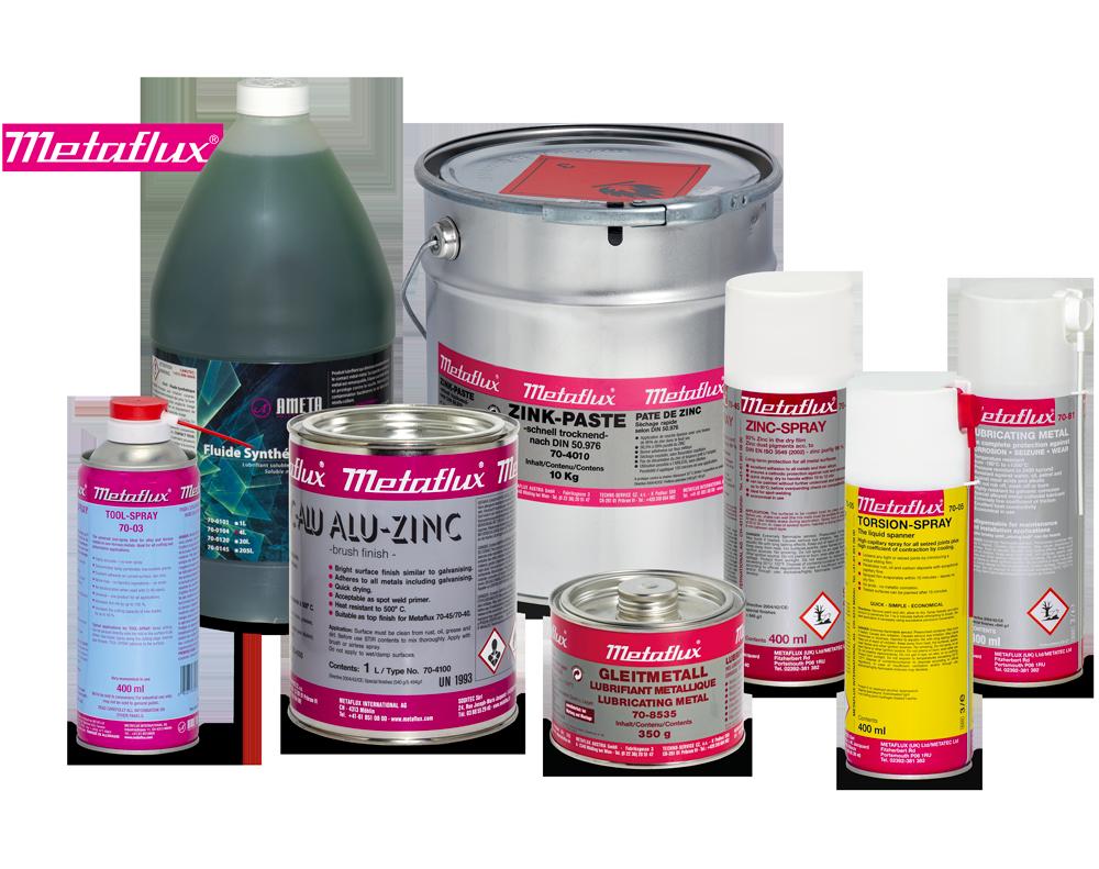 Metaflux Chemical lubricant metallic coating cleaners
